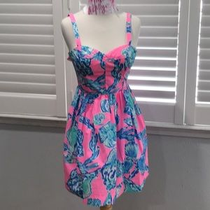 LILLY PULITZER CLAM BAKE BRIGHTS SUNDRESS